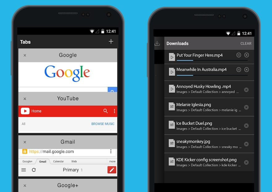 دانلود نرم افزار مدیریت دانلود Downloader & Private Browser Premium برای اندروید