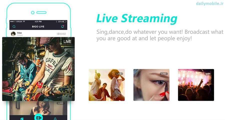 دانلود برنامه اندروید چت تصویری و زنده BIGO LIVE - Live Stream