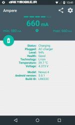 دانلود جديد ترين ورژن برنامه Ampere - مدیریت شارژ باتری اندروید