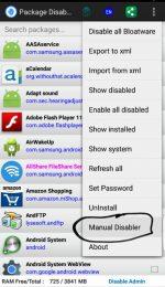 دانلود نرم افزار اندروید غیر فعال کردن برنامه ها Package Disabler Pro