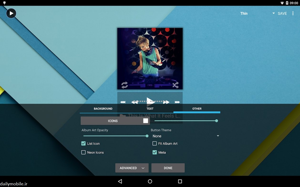 دانلود نسخه بتا موزیک پلیر Poweramp اندروید Poweramp Music Player (Trial)