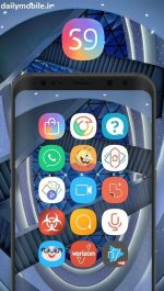 دانلود پک آیکون سامسونگ برای اندروید S Nine Dream UI Icon Pack