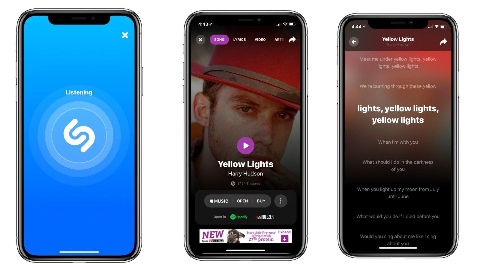 نمایش متن آهنگ ها در اپلیکیشن شازام Shazam lyrics
