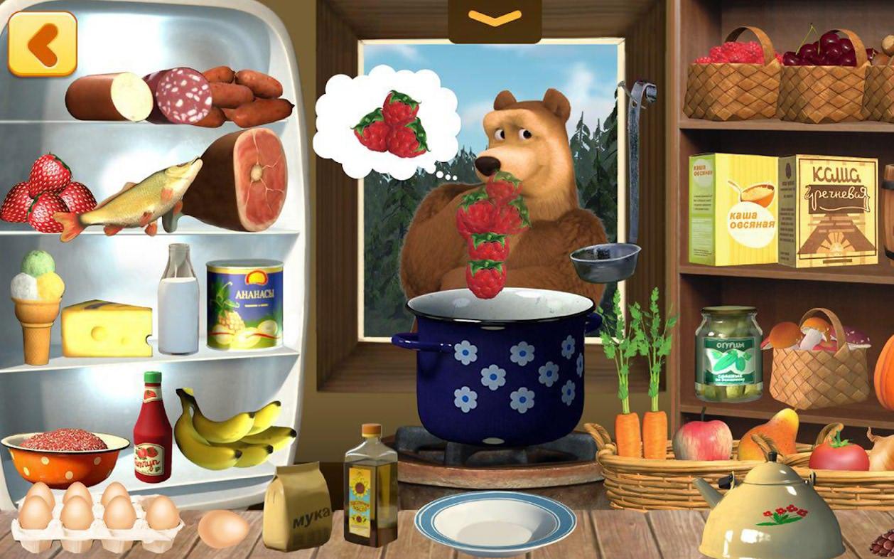 دانلود بازی پختن غذا ماشا Masha and Bear Cooking Dash اندروید