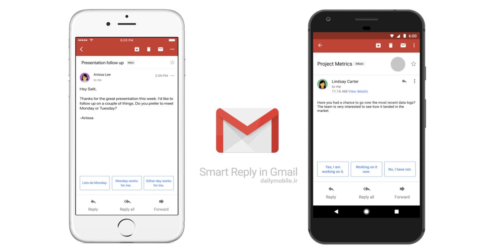 دانلود نسخه ی رسمی برنامه جیمیل برای اندروید Gmail