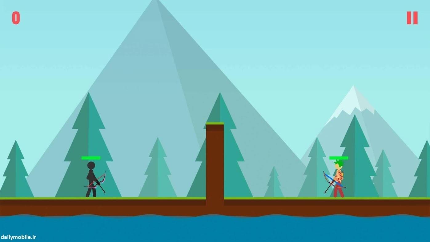 دانلود بازی Stickman Archer 2 استیکمن تیراندازه برای اندروید