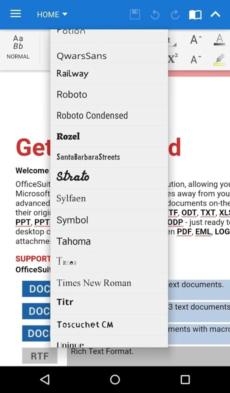 Download دانلود پکیج فونت OfficeSuite برای اندروید OfficeSuite Font ...