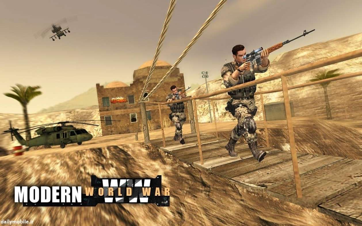 دانلود بازی اکشن اندروید Call of Modern World War Free FPS Shooting Games