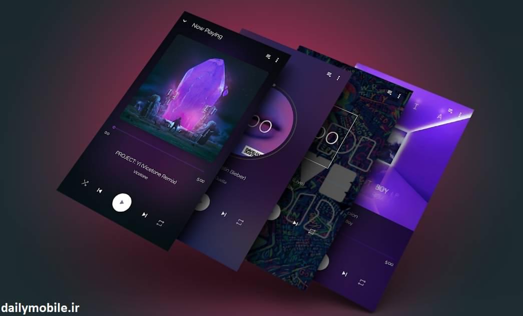 دانلود کامل ترین موزیک پلیر اندروید با لینک مستقیم Musicana Pro Music Player