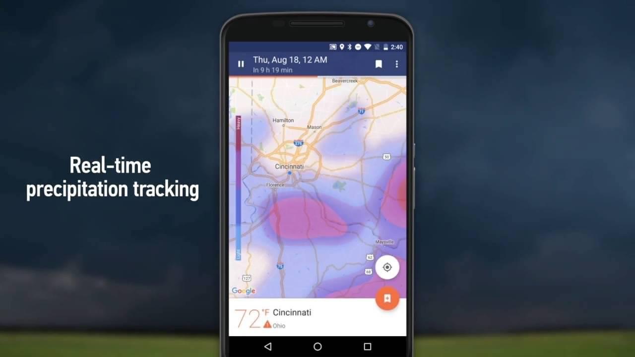 دانلود دقیق ترین نرم افزار هواشناسی اندروید NOAA Weather Radar Live & Alerts