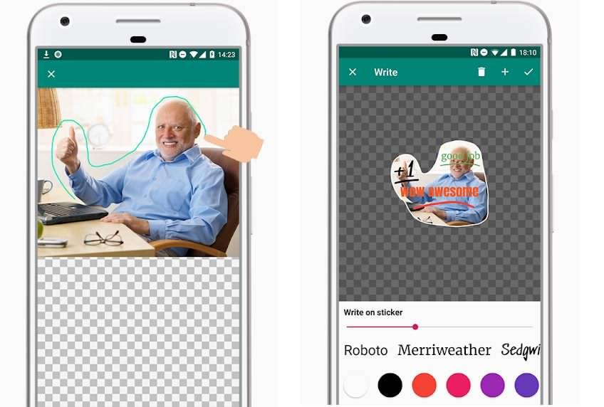برنامه اندروید ساخت استیکر واتساپ Sticker Studio - Sticker Maker for WhatsApp