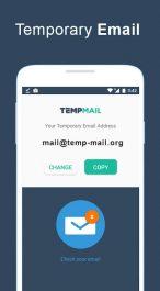 دانلود برنامه اندروید ساخت ایمیل موقت Temp Mail Android App