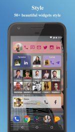 دانلود برنامه حرفه ای ویجت مخاطبین برای اندروید Contacts Widget