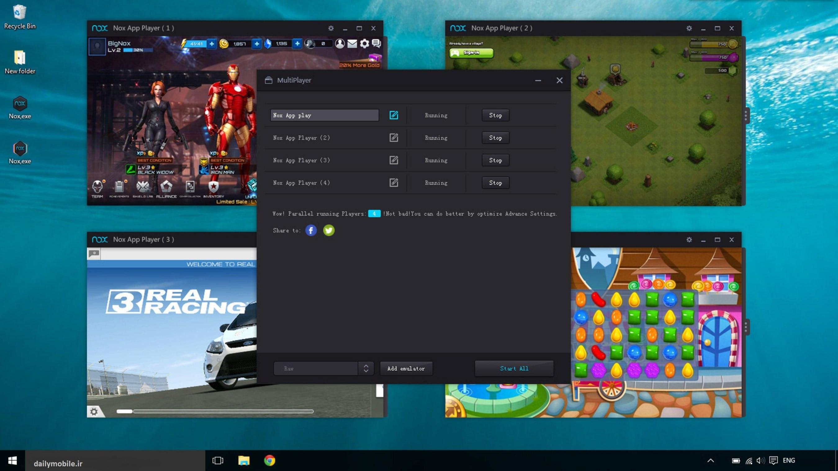 دانلود نسخه جدید برنامه Nox App Player شبیه ساز اندروید بر روی ویندوز
