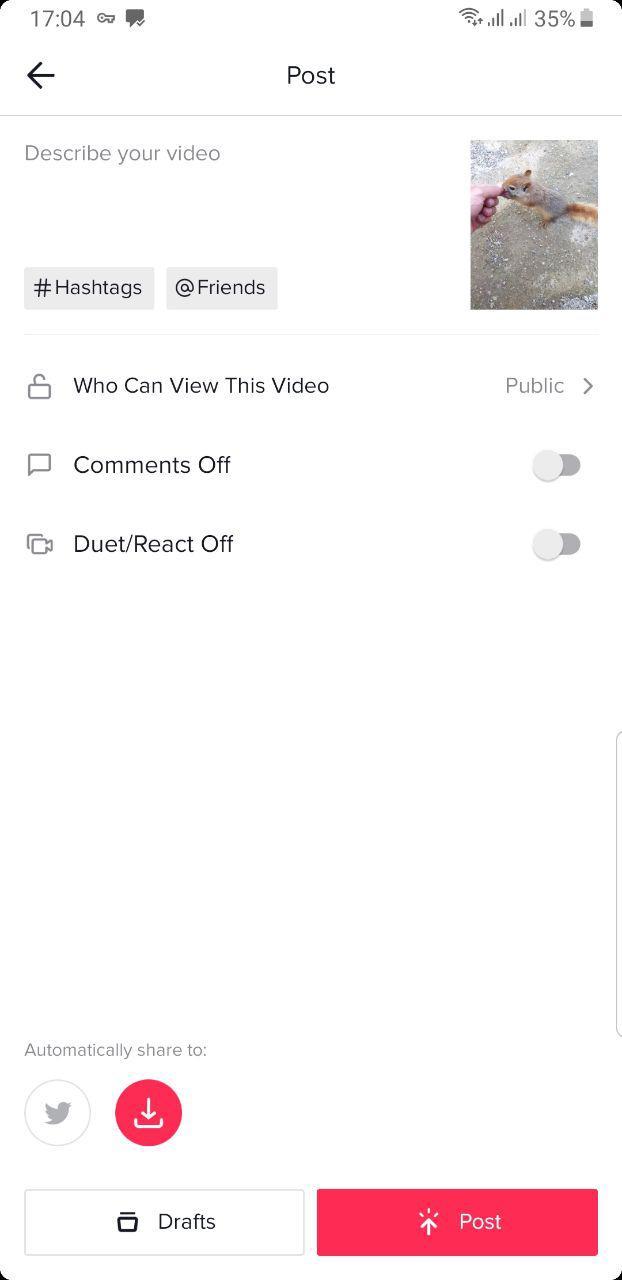 ذخیره ویدیوهای تیک تاک بدون نیاز به اشتراک گذاری آنها