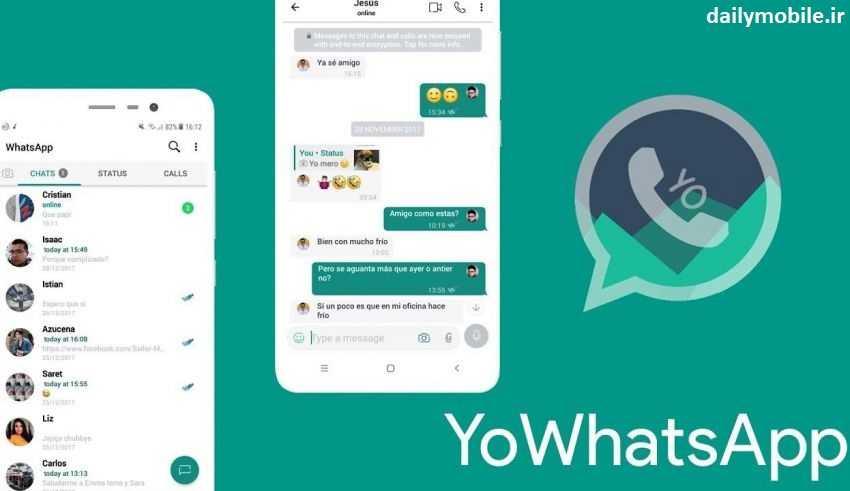 دانلود ورژن جدید برنامه Yowhatsapp یو واتساپ برای اندروید با لینک مستقیم