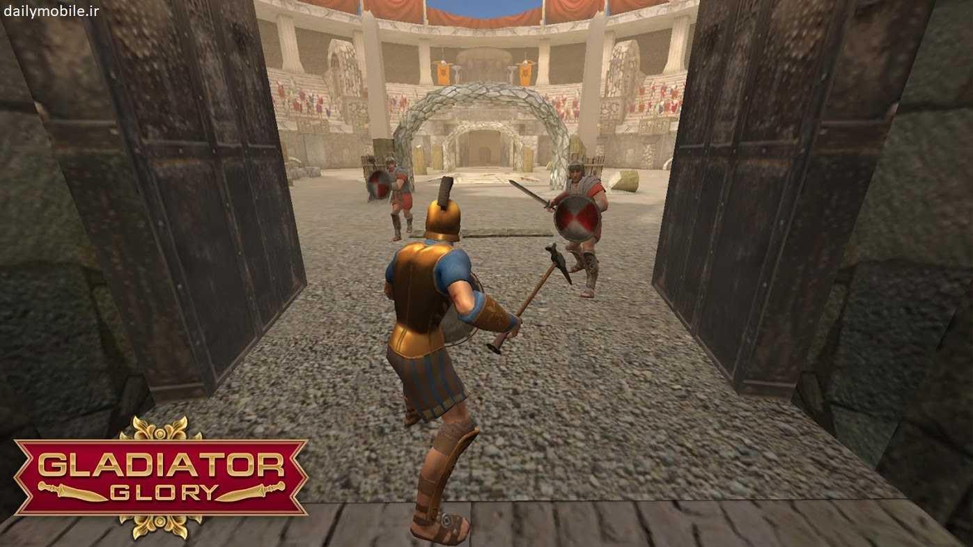دانلود نسخه جدید و مود شده بازی Gladiator Glory شکوه گلادیاتور برای اندروید