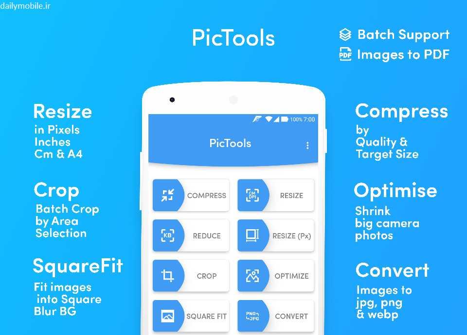 دانلود برنامه اندروید PicTools Premium ابزارهای ویرایش عکس
