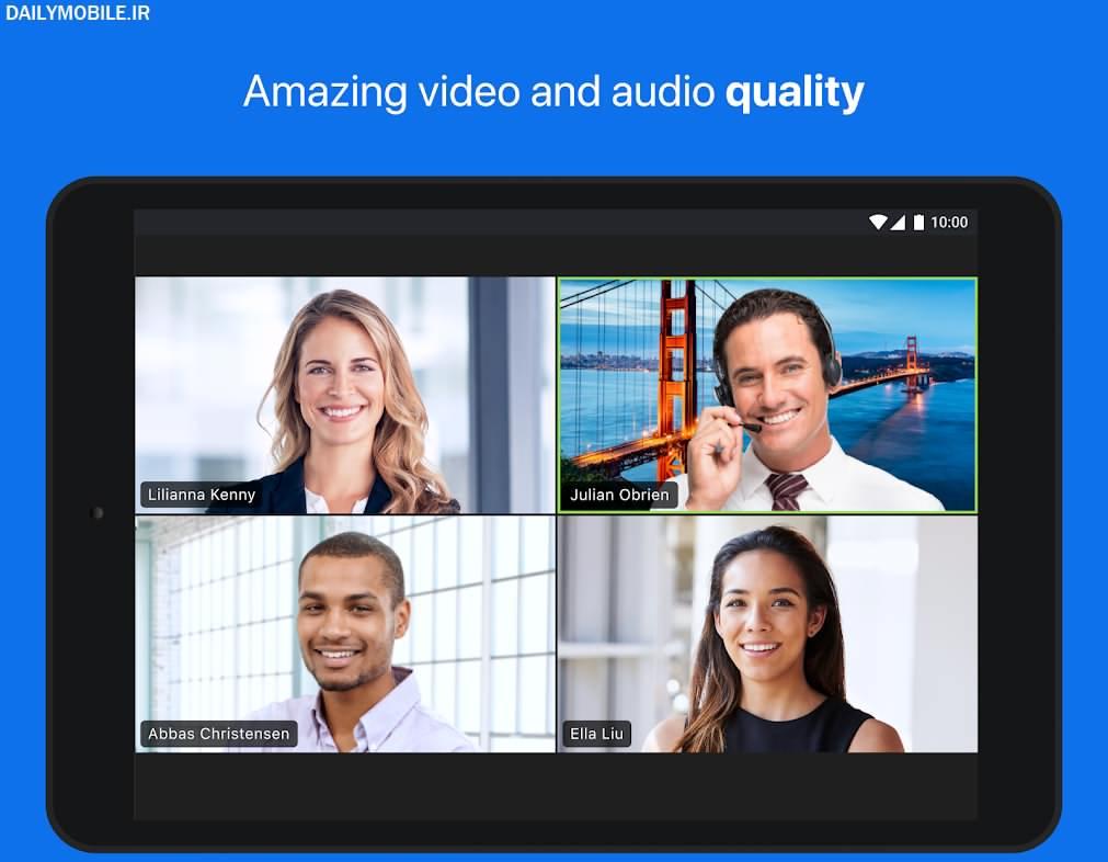 دانلود برنامه کنفرانس آموزشی و چت تصویری اندروید ZOOM Cloud Meetings