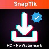 برنامه اندروید SnapTik دانلود فیلم از تیک تاک بدون واترماک و کپی رایت روی ویدیوها