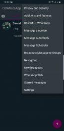 دانلود واتساپ غیر رسمی او بی برای اندروید OBWhatsapp با قابلیت نصب تم