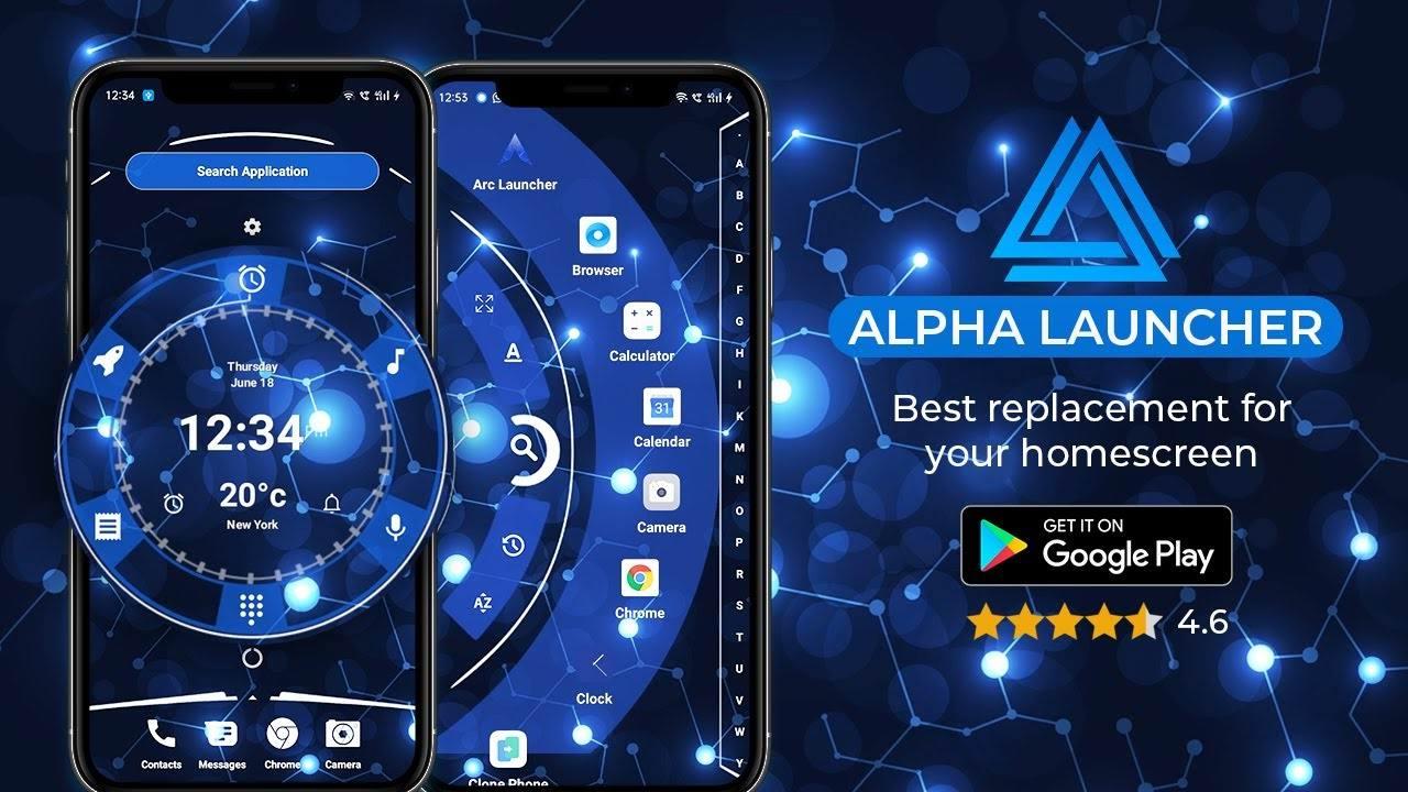 دانلود لانچر آلفا - زیباترین لانچر برای اندروید Alpha Launcher Prime
